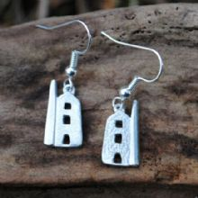 Cornish tin mine earrings E84
